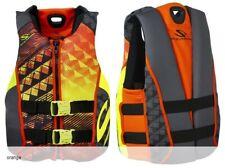 NEW Mens XL Stearns Black Orange Hydroprene Neoprene Life Jacket Wakeboard Vest