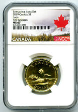2019 CANADA $1 EVERLASTING ICONS LOON NGC MS67 FIRST RELEASES LOONIE