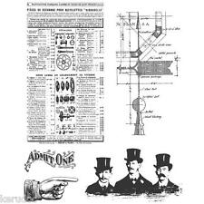 Tampons caoutchouc TIM HOLTZ STEAMPUNK lot scrapbooking carterie cling stamps