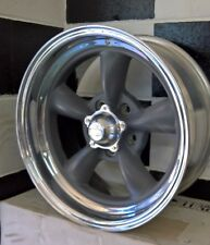 "2-16x7"" FORD 5/114.3 AMERICAN RACING GRAY CENTRE TORQ THRUST II 2 PIECE WHEELS"