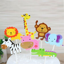 7x Baby Shower Animal Cake Cappello a cilindro PartyP BERX
