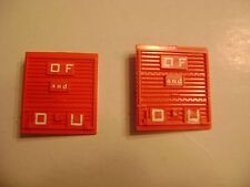 Lionel 6464-275 Solid Red Plastic State of Maine Doors- (pkg. of two)