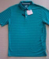 Puma mens $60 Golf Polo Shirt ESS mixed stripe Green w/sewn logo size XL #43