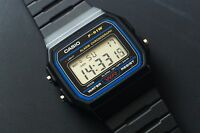 Casio Retro Black F91W-1 / F-91W-1YER digital watch with Casio warranty card.