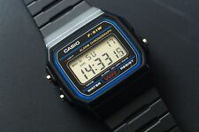 Reloj Digital Casio Retro Negro F91W-1/F-91W-1YER Con Casio tarjeta de garantía.