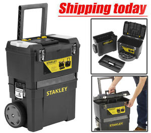 Extra large Tool Box On Wheels Rolling Heavy Duty Mobile Work Centre Storage Box