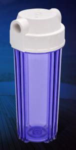 "2 x Filtergehäuse 10"" Wasserfilter Umkehrosmose Osmose Transparent"