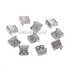 10 pcs 4 Pin USB Type-A Female PCB Mount Socket Plug Connector Right Angle