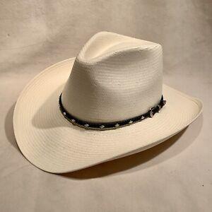 Stetson 8X White / Natural Cowboy - Size 7 1/8
