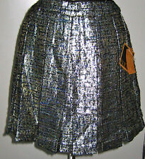 NEW RACHEL ROY PARTY PLATINUM SILVER BLUE SKIRT INVERTED PLEATS SIZE 0 NWT $89