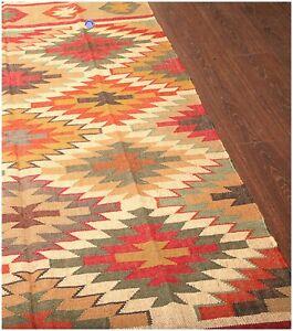 Indian Kilim Jute Rug Wool Rugs Handmade Area Rugs Floor Bedside Hallway Rug Rag