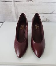 WOMEN'S 9.2.5 SO SOFT LEATHER Uppers MAROON HEELS SIZE 9M All Other Man Made