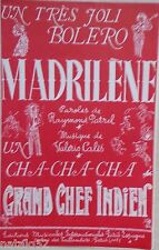 partition MADRILENE - GRAND CHEF INDIEN  - orchestre