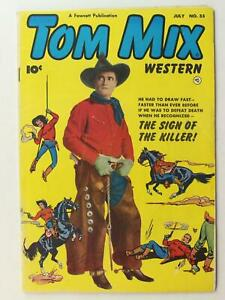 1952 TOM MIX WESTERN COMIC # 55 (FN +)