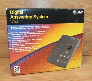 Vintage AT&T 1750 3 Mailbox Digital Answering System in Box! **READ**