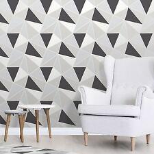 Apex Geometrische Tapeten schwarz / silber - Fine Decor fd41994 luxuriös schwer