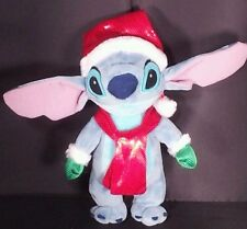 Disney Stitch Christmas Santa Hat Scarf Green Gloves Stuffed Plush 10 inch