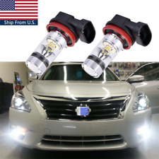 For Nissan Maxima Altima Rogue Pathfinder Front Fog Light 6000K White LED Bulbs