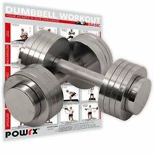 Kurzhantelset Chrom inkl. Workout I Chromhanteln I 2x5kg oder 2x10kg
