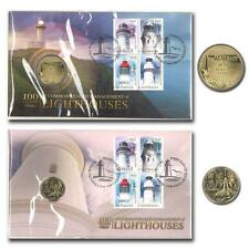 2015 AUSTRALIAN 2 DIFFERENT  LIGHTHOUSES PNC STAMP & $1 COIN COVER