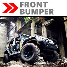 BLK FRONT BUMPER FOR 07-17 JEEP WRANGLER JK ROCK CRAWLER W/WINCH PLATE TEXTURED