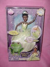 Disney The Princess and the Frog Transforming Princess-to-Frog Tiana Doll NEW