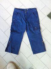 Pantaloni blu Original Marines modello cargo a 3/4 taglia 10 anni blu tasconi