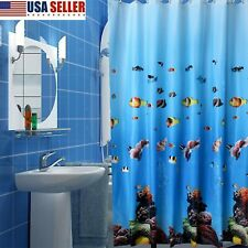 180 X 200Cm Pictorial Extra Long Drop Shower Curtain Waterproof Antifungus Usa