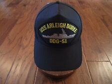 Uss Arleigh Burke Ddg-51 Navy Ship Hat U.S Military Official Ball Cap U.S Made