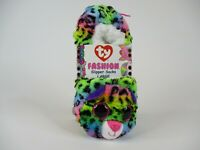 ty BEANIE BOOS KIDS SLIPPER SOCKS - DOTTY - SZ LARGE (4-6) RAINBOW LEOPARD NWT