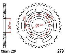 KR Kettenrad 40Z Teilung 520 HONDA VT 125 C Shadow 99-07 NEU ... Rear sprocket