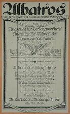 Albatros Flug-Unternehmungen Berlin-Joahnnisthal.. Werbeanzeige von 1919 Reklame
