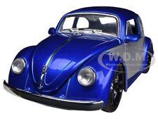 1959 VOLKSWAGEN BEETLE BLUE / SILVER 1/24 DIECAST CAR MODEL BY JADA 91697