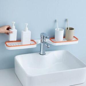 Bathroom Corner Punch-Free Rack Shampoo Storage Rack Holder with Suction Cup.