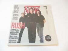 RUSH Geddy Lee ALEX LIFESON Neil Peart rare Now magazine July 11 2002