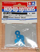 Tamiya 53646 Wheel Spacer (Blue) (TB03/TB04/TA05/TA06/TRF417/TRF418/TRF419) NIP