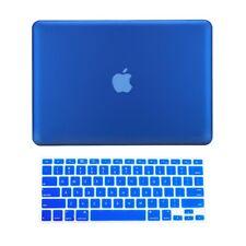 "2 in1 ROYAL BLUE Rubberized Case fr Macbook Pro 15"" A1398 / Retina display +Key"