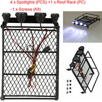 Roof Rack Luggage Rack + LED Spotlight für 1/10 TRAXXAS TAMIYA CC01 AXIAL SCX10