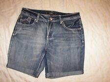 Women's Cato Stretch Denim Shorts with Embellished Trim - Size 8