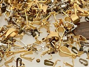Vintage Mixed Metals Bails Findings Mix 100