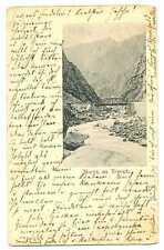 Russian Imperial Town View Terek River Bridge PC 1902 Mail Car