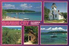 Traverse City, Michigan, Old Mission Peninsula, Lighthouse, Haserot --- Postcard