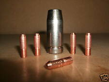 Telwin Telmig 100 / 130 mig gas shroud screw on nozzle & 5 x 0.6mm contact tips