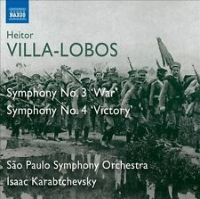 Villa-Lobos: Symphony Nos. 3 'War' & 4 'Victory', New Music