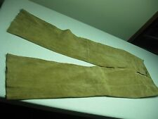 VINTAGE LADIES AMBER GOLD LEATHER SUEDE SIZE 2? PANTS 29? X 34