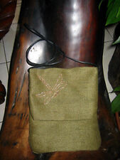 Green with Copper Dragonfly Passport Bag