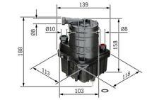 BOSCH Filtro combustible para RENAULT CLIO MODUS 0 450 907 016
