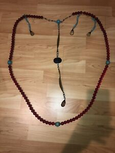 ANTIQUE ASIAN CHINESE CHAO ZHU COURT NECKLACE
