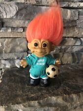 Russ Troll Doll! 4 1/2� Orange Hair Brown Eyes! Soccer Super Kicker! Soccer Ball