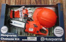 HUSQVARNA Spielzeug-Kettensäge Set (inkl. Helm u. Handschuhe) für Kinder NEU